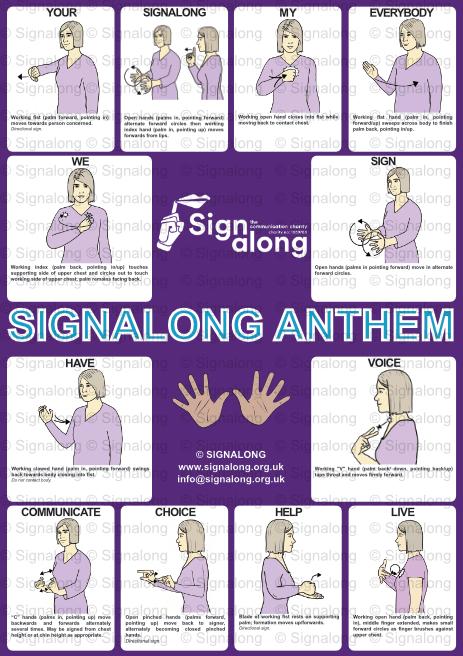 Signalong Anthem Poster